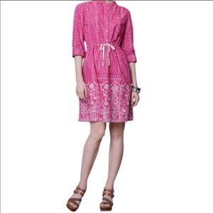 Anthro Meadow Rue Anila Pink Shirt Dress
